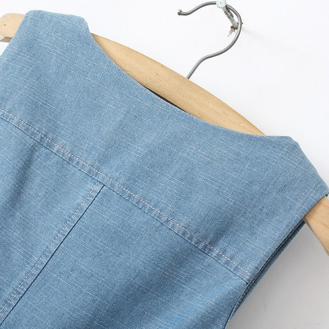 Summer-2015-New-Korean-Style-Slim-Cotton-Denim-Dress-Sleeveless-Blue-Jeans-Shirt-Dresses-For-Women